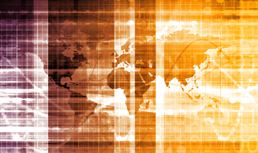 blurred world map