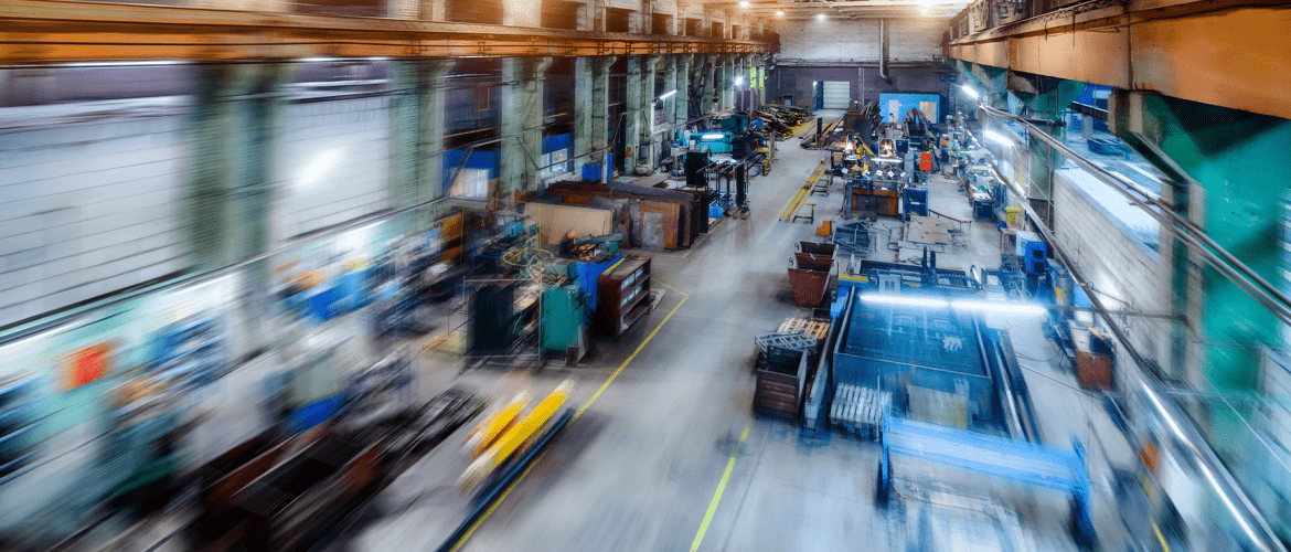 blurry manufacturing plant