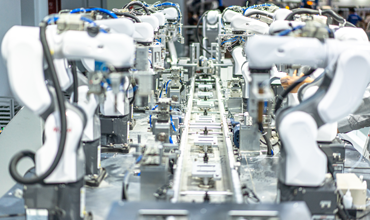 Robotic arms assembly line