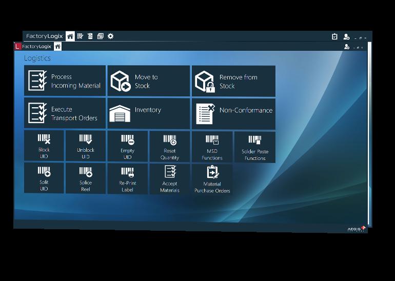 Lean materials management menu