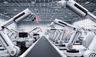 smart factory with autonomous robots