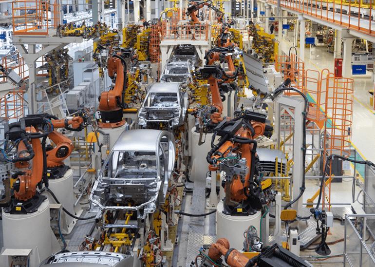 Automotive Robotic Factory Assembly Line