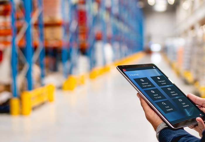 factorylogix on ipad in warehouse