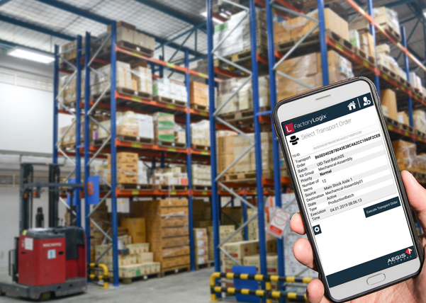mobile app in warehouse