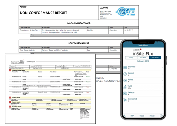 Collage of reports and data collection