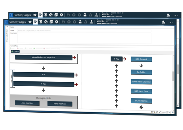 screenshot of process flow builder ideal for RMA & RMO environments
