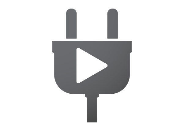 Plug with play icon