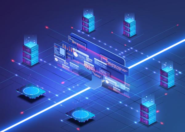 Cloud. Analyse großer Datenmengen unter Einbeziehung standort- und standortübergreifender Informationen sowie anderer Systeme