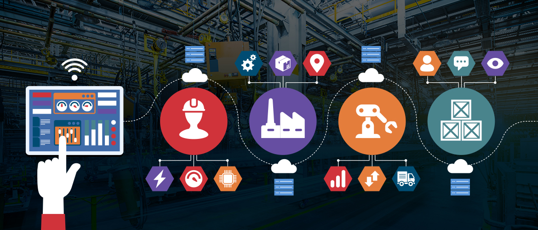 Analytics and Factory illustration